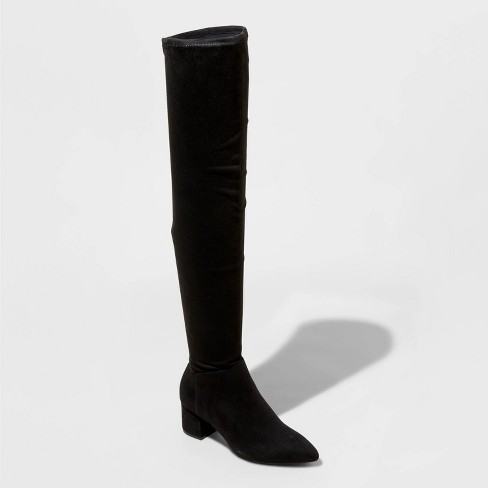 Women's Naviah Faux Leather Heeled Over the Knee Boots - A New Day™ - image 1 of 3