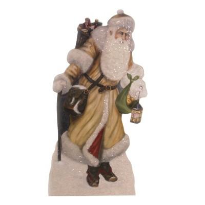 "Christmas 12.0"" Lighting The Way Dummy Board Woodland Santa Lantern  -  Decorative Figurines"