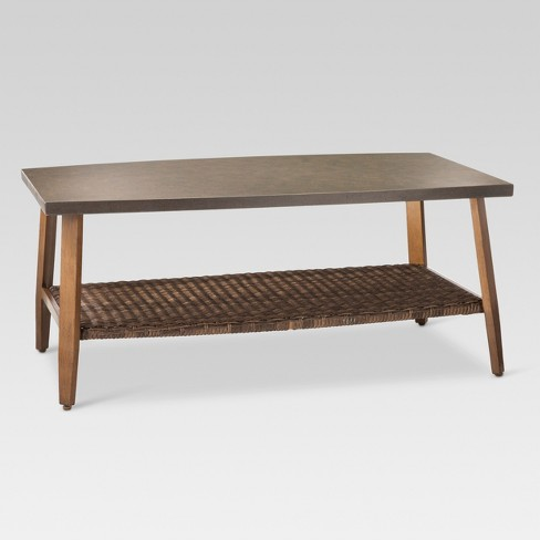 Mayhew Wicker Rectangle Patio Coffee Table Threshold Target