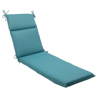 Outdoor Chaise Lounge Cushion - Turquoise Forsyth Solid