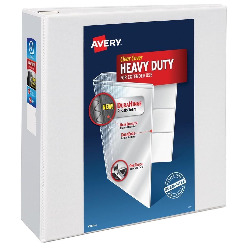 4 3 Ring Binder Heavy Duty White - Avery