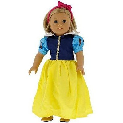 Dress Along Dolly Snow White Princess Inspired Outfit for American Girl Doll