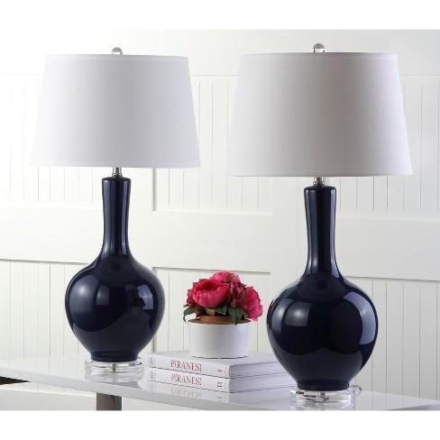 Table Lamp Navy Set Of 2 Safavieh Target