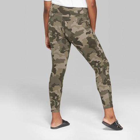 a5d536096da Women s Plus Size Camo Print High-Rise Leggings - Wild Fable™ Green 1X    Target