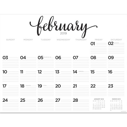 Desktop Calendar 2019 2019 Desktop Calendar Black & White Script   TF Publishing : Target