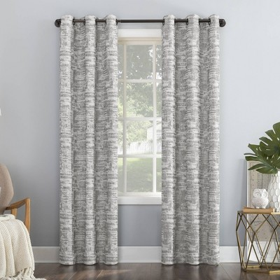 Parrish Distressed Grid Thermal Extreme 100% Blackout Grommet Curtain Panel - Sun Zero