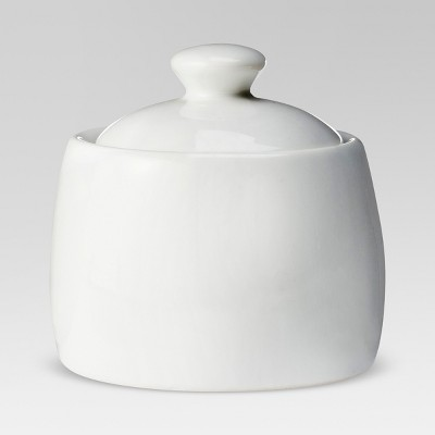 8oz Ceramic Sugar Bowl White - Threshold™