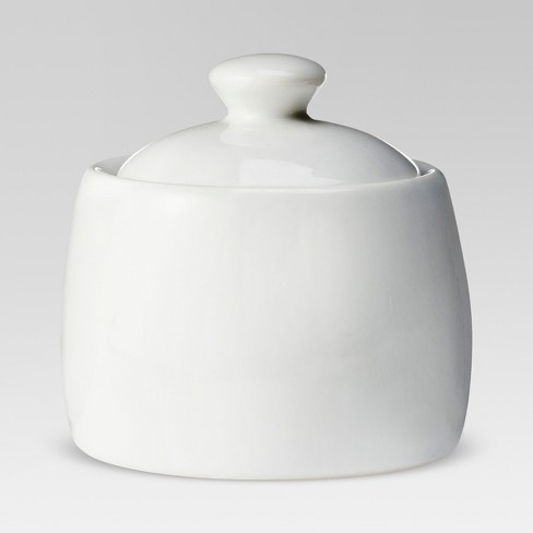 8oz Ceramic Sugar Bowl White - Threshold™ - image 1 of 4