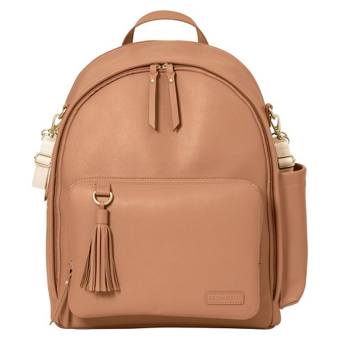 Skip Hop GREENWICH Simply Chic Diaper Backpack - Caramel - image 1 of 9