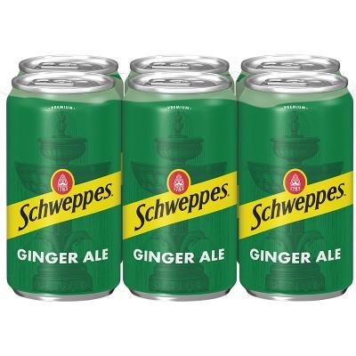 Schweppes Ginger Ale Soda - 6pk/7.5 fl oz Cans