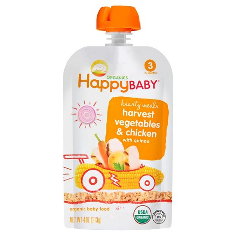 Happy Baby Stage 3 Hearty Meals Chick Chick Organic Baby Food