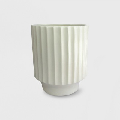 "14"" Stoneware Geared Planter White - Project 62™"