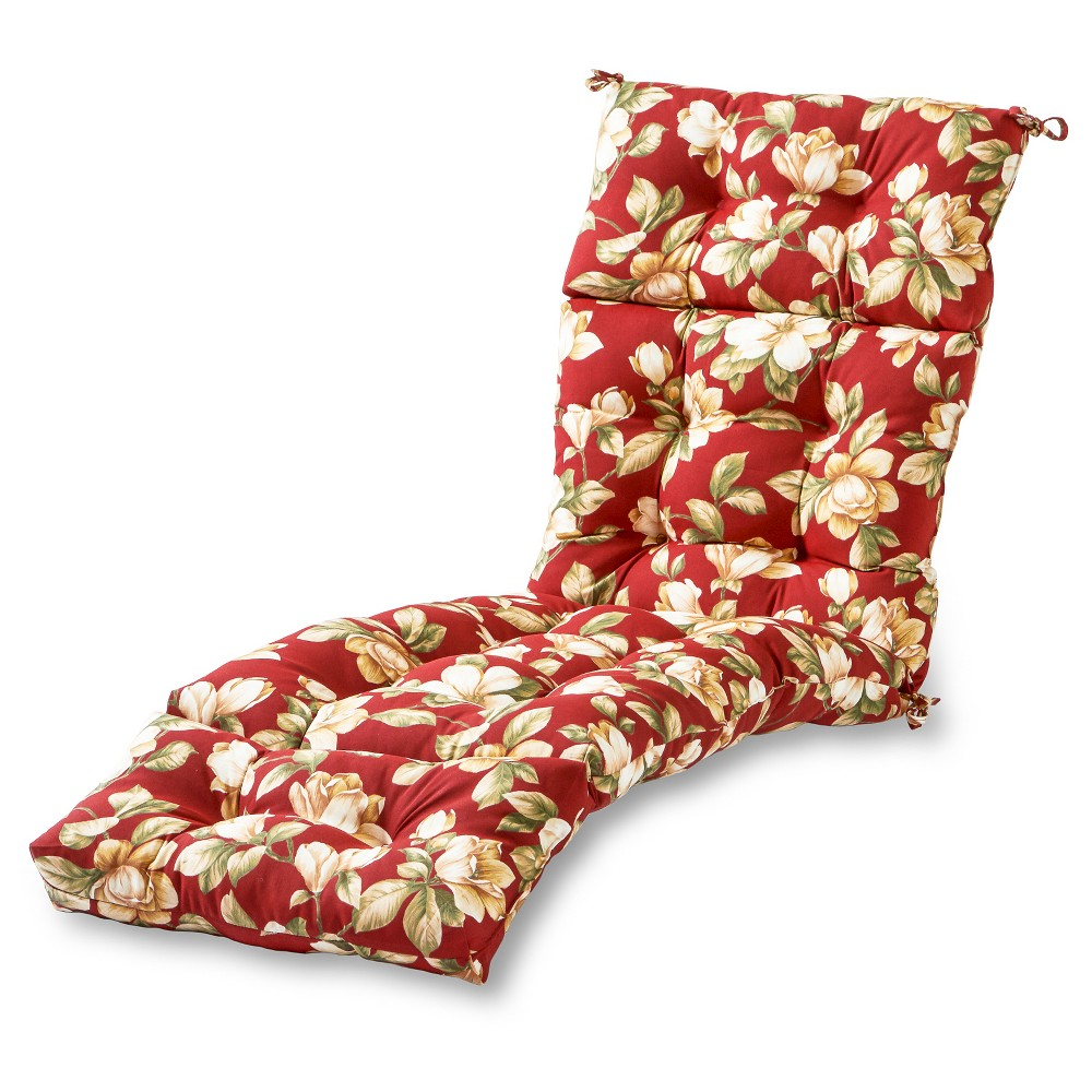Roma Floral Outdoor Chaise Lounge Cushion Kensington