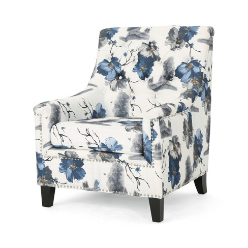 Jaclyn Tufted Club Chair Print - Christopher Knight Home - image 1 of 4