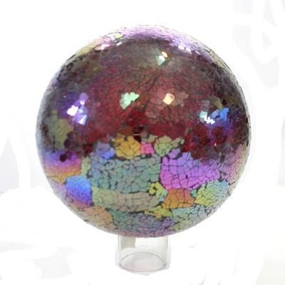"Home & Garden 9.75"" Baroque Gazing Ball Glass Mosaic Landscape Decor Evergreen Enterprises Inc  -  Outdoor Sculptures And Statues"