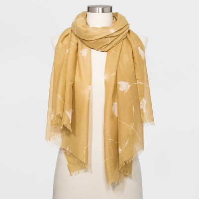 Women's Oblong Floral Print Scarf - A New Day™ Brown One Size