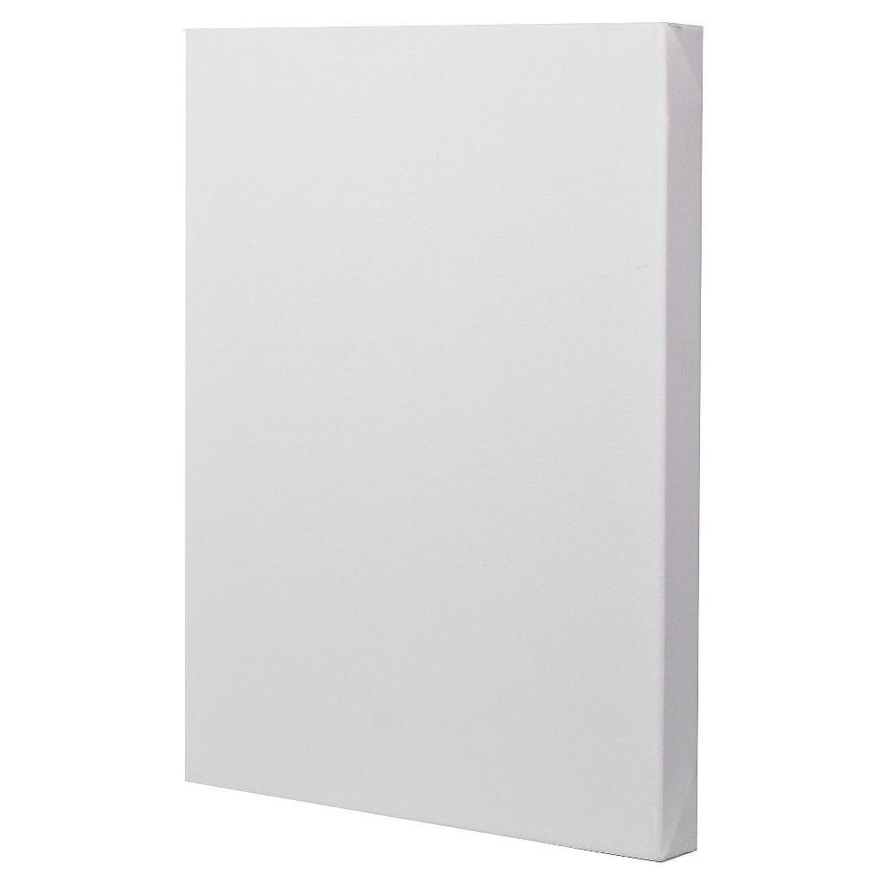 Fredrix Gallerywrap Stretched Canvas, 12x16, White