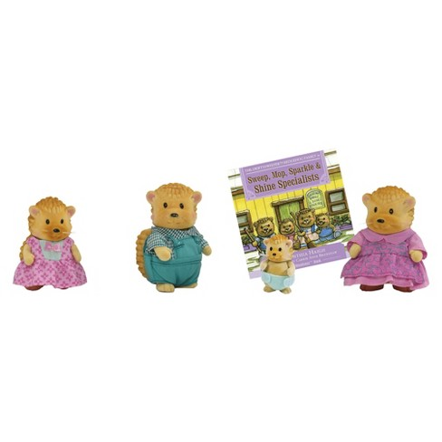 Li'l Woodzez® Swiftysweepers Hedgehog Family 4 Piece Toy Set with Storybook - image 1 of 2
