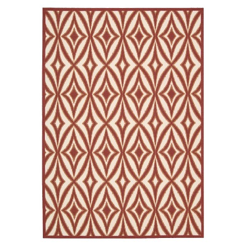 Waverly Tile Indoor/Outdoor Rug - Red (8'x11') - image 1 of 4