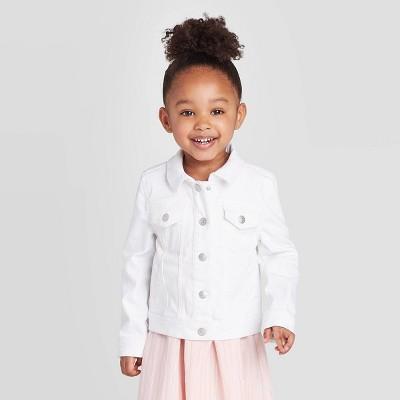 Toddler Girls' Denim Jacket - Cat & Jack™ White 18M