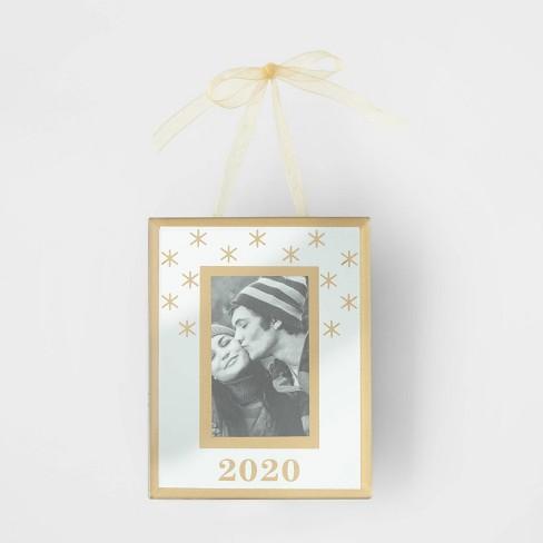 Glass Picture Frame 2020 Christmas Tree Ornament   Wondershop