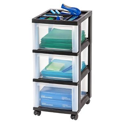 IRIS 3 Drawer Rolling Storage Cart : Target