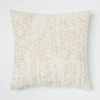 Woven Chenille Square Throw Pillow Cream - Project 62™