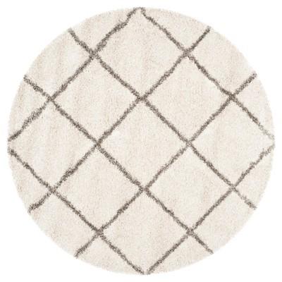 Hudson Shag Rug - Ivory/Gray - (9'X9' Round)- Safavieh