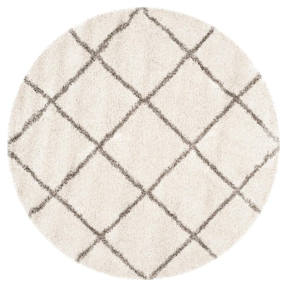 Hudson Shag Rug - Ivory/Gray - (9'X9' Round) - Safavieh