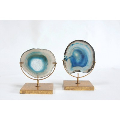 Agate on Stand - Blue (4 H)- Includes 1 Stand Only