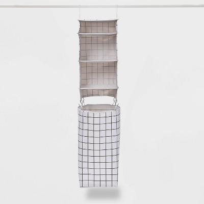 Hanging Organizer with Hamper Black/White - Room Essentials™