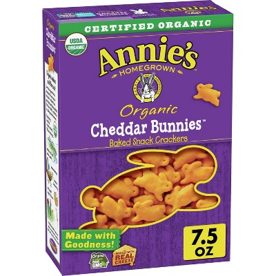 Annie's Organic Cheddar Bunnies Baked Snack Crackers - 7.5oz
