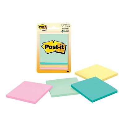 Post-It® Notes, 3  x 3 , 4pk - Pastel