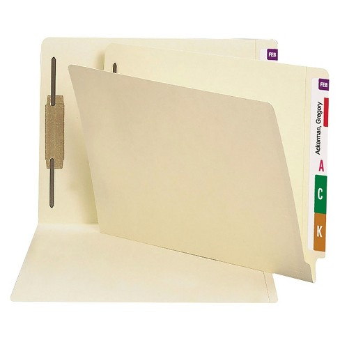 Smead 14 Point End Tab Heavyweight Letter File Folders with One Fastener- Manila (50 per Box) - image 1 of 1