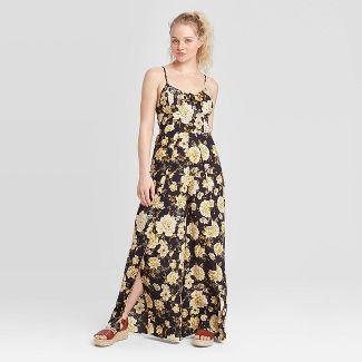 Women's Floral Print Sleeveless V-Neck Tie Front Jumpsuit - Xhilaration™ Navy S