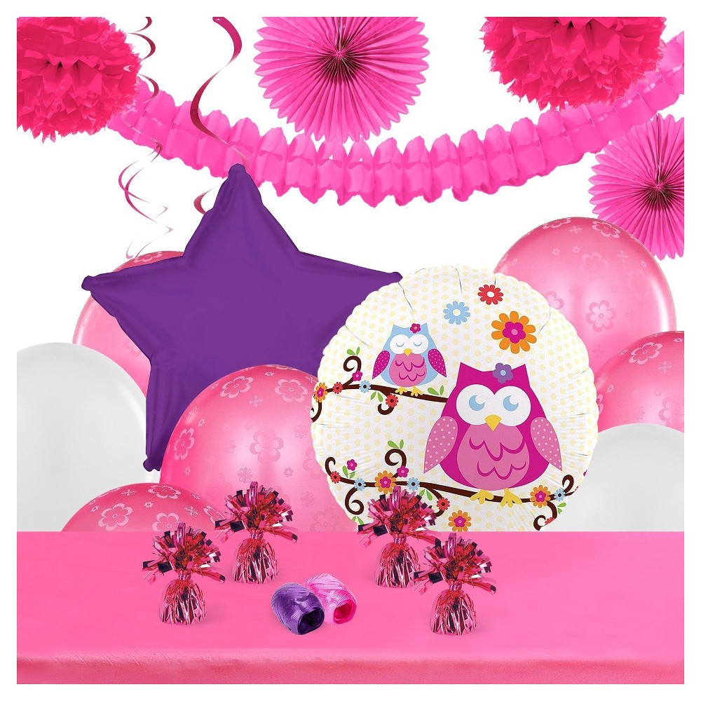 Owl blossom Party Decoration Kit, Multi-Colored