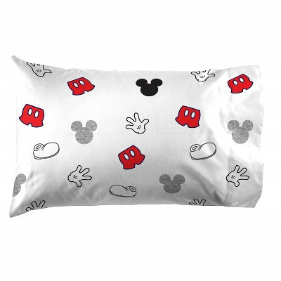 Saturday Park Mickey Mouse Pillowcase  - 20x30 Gray