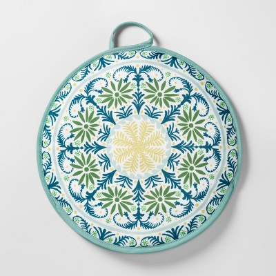 Tortilla Warmer 12  Green/Blue Medallion - Opalhouse™