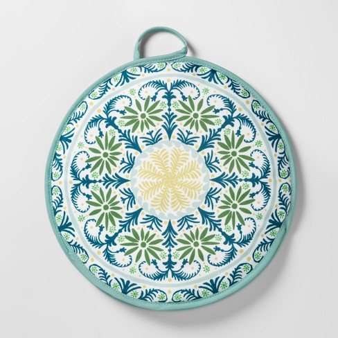 "Tortilla Warmer 12"" Green/Blue Medallion - Opalhouse™ - image 1 of 2"