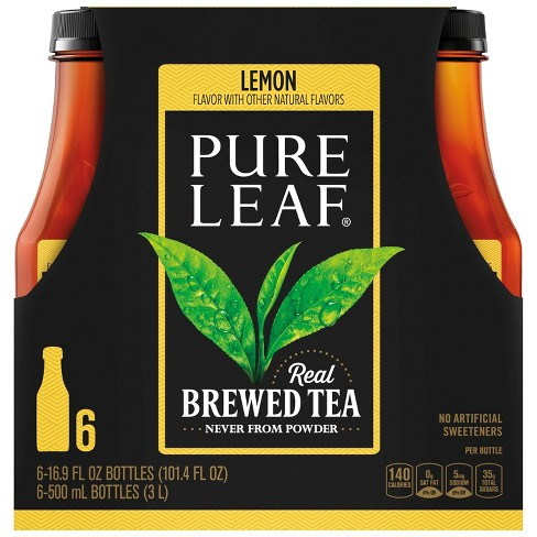 Pure Leaf Lemon Iced Tea - 6pk/16.9oz Bottles - image 1 of 4
