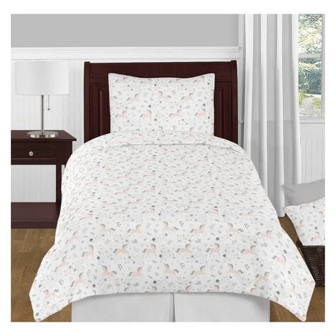 Twin 4pc Unicorn Bedding Set - Sweet Jojo Designs - image 1 of 2