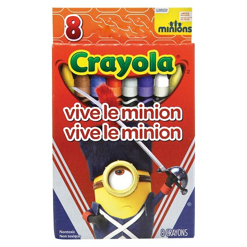 Crayola 8ct Minions Crayons - Vive Le Minion - image 1 of 1