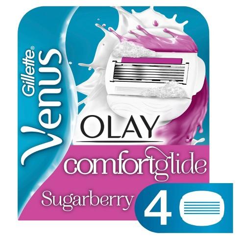 Venus ComfortGlide plus Olay Sugarberry Women's Razor Blade Refills - 4ct - image 1 of 4