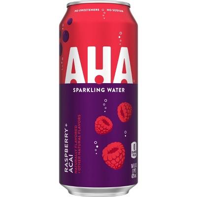 AHA Raspberry Acai Sparkling Water - 16 fl oz Can