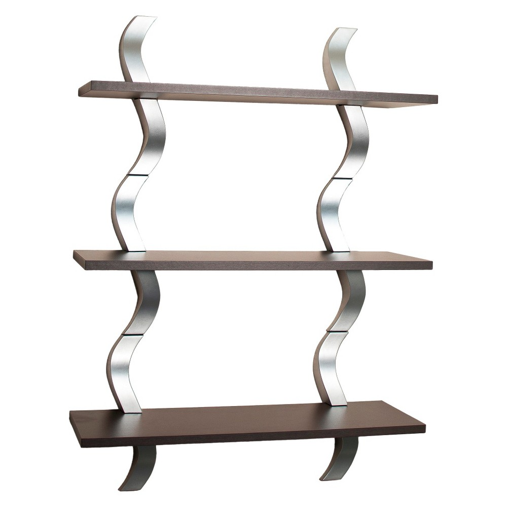 3 Tier Waves Shelf - Brown