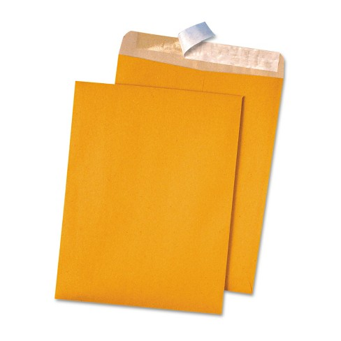 Quality Park 100% Recycled Brown Kraft Redi Strip Envelope 9 x 12 Brown Kraft 100/Box 44511 - image 1 of 1