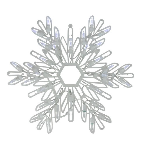 "Northlight 15"" Cool White LED Lighted Snowflake Christmas Window Silhouette Decoration - image 1 of 2"