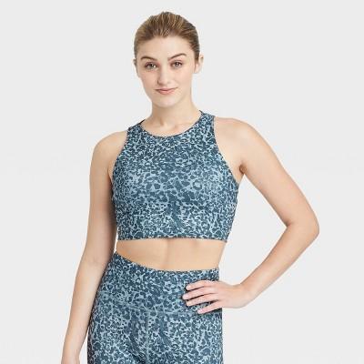 Women's Leopard Print Strappy Back Bra - JoyLab™