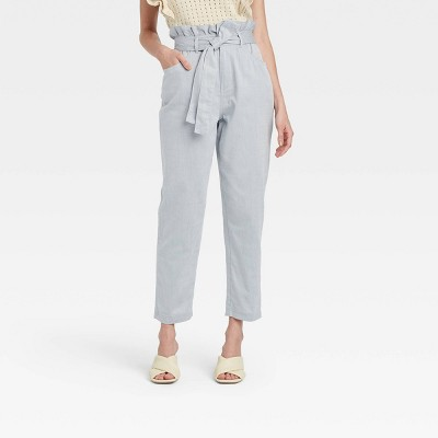 Women's Ankle Length Denim Trousers - Who What Wear™ Blue