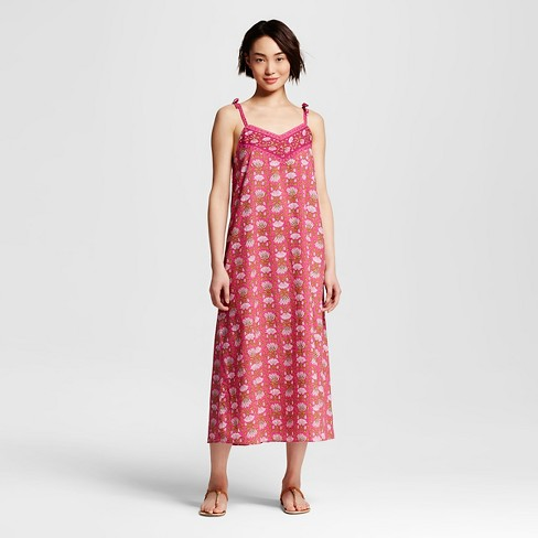 Women's Border Printed Dress Pink XS- Happy by Pink Chicken - image 1 of 1
